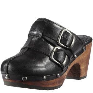 New Ariat 10012075 Black Bridle spur Leather Clog
